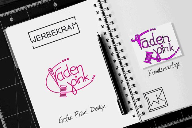 Logo von Faden Pink Sarah Koch Werbekram