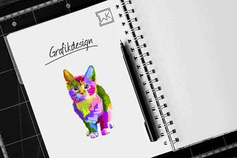 Grafikdesign von Werbekram